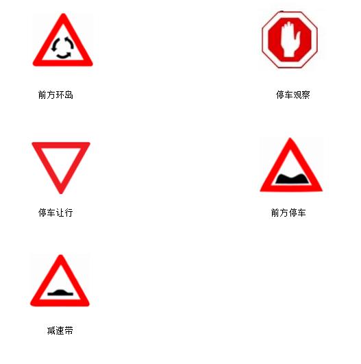 2017以色列交通标志 以色列道路交通标识图片