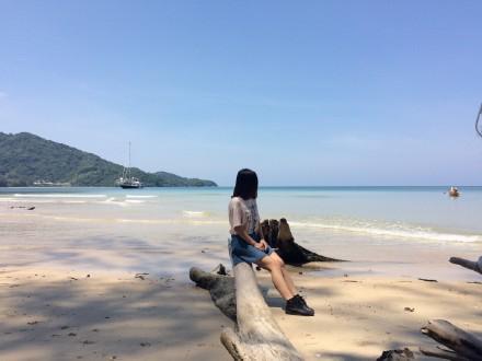 普吉岛的海和美女