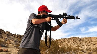 拉斯维加斯MGV户外射击体验